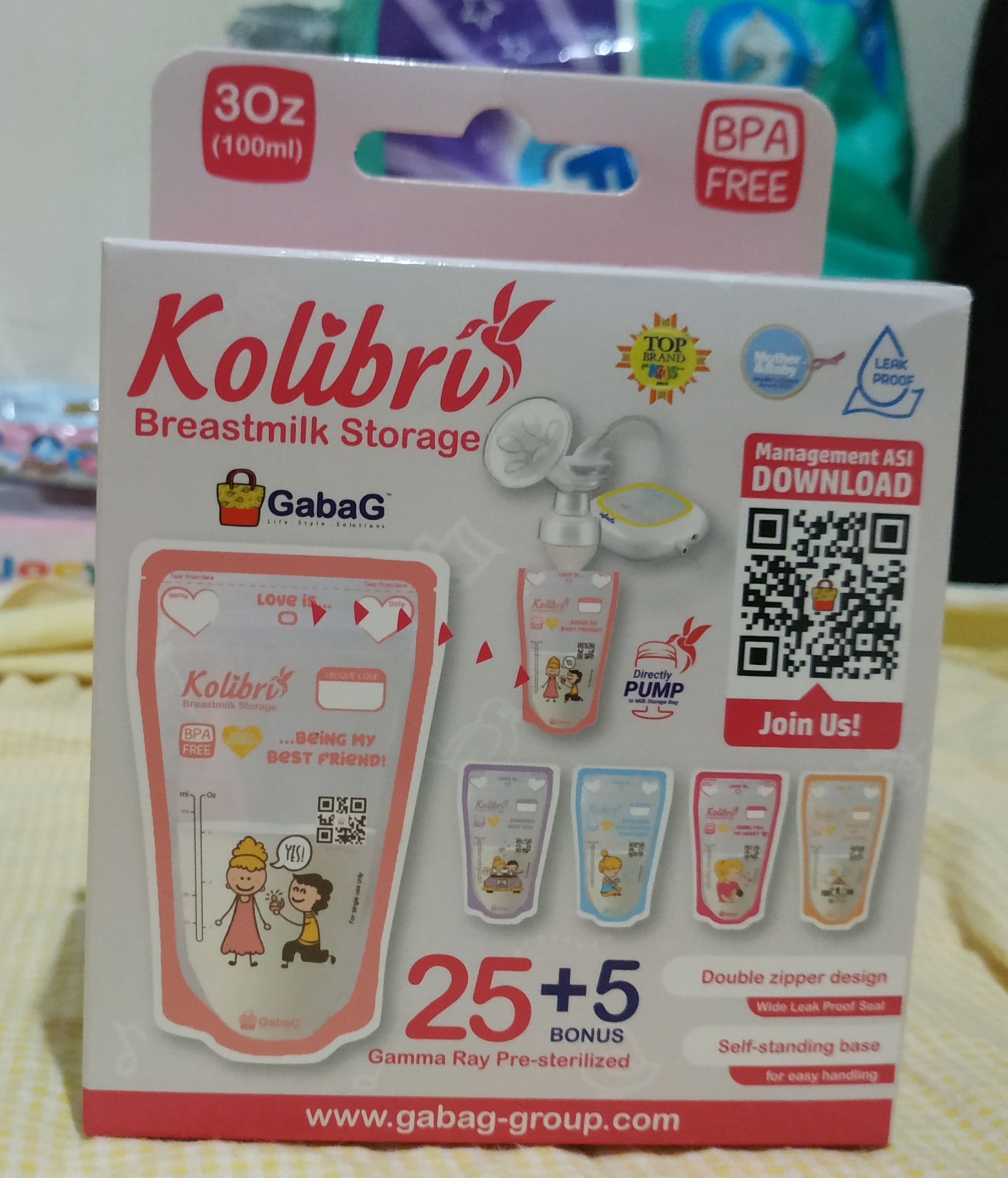 [Review Product] Breastmilk Storage - Kolibri Gabag 100ml