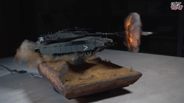 Diorama Tank tembak