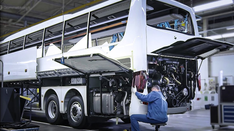 Mercedes Setra LUXURY BUS - Production Assembly